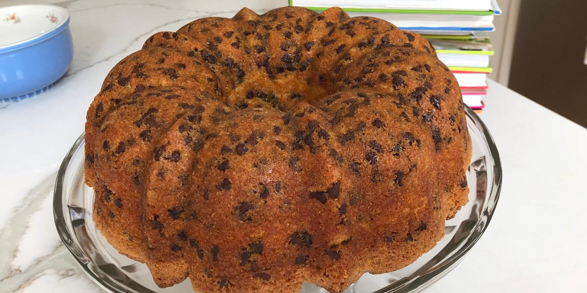 Chocolate Chip Cake Recipe featuring Manion's Vanilla